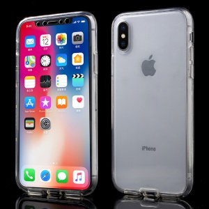 Touchable Acrylic Front + Flexible TPU Back Cover for iPhone X/XS 5.8 inch