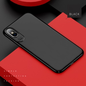 USAMS Jay Series Fashionable Rubberized Hard PC Mobile Phone Case for iPhone X(Ten) 5.8 inch - Black