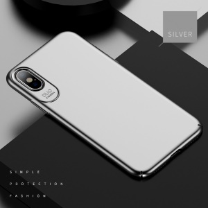 USAMS Jay Series Rubberized Hard PC Mobile Phone Cover para iPhone X / 10 5,8 polegadas - branco