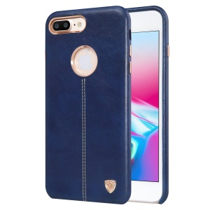 Custodia Per Cellulare Posteriore In PC Rivestito In Pelle Con Rivestimento In Nichel Englon Per IPhone 8 Plus 5,5 Pollici - Blu