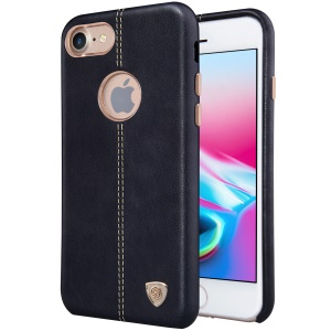 NILLKIN Englon Leather Coated Hard Plastic Back Case for iPhone 8 4.7 inch - Black