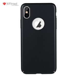 X-FITTED Classic Hard PC Case for iPhone X - Black