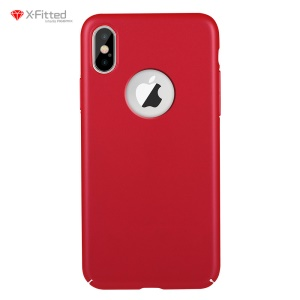 X-FITTED Classic Hard PC Shell Case for iPhone X - Red