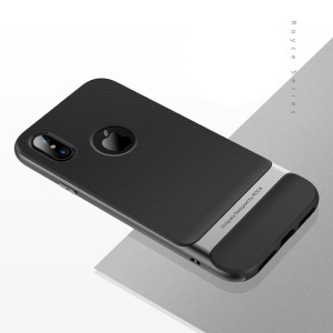 ROCK Royce Series PC Y TPU Funda Híbrida Para Iphone X - Gris