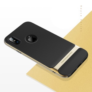 ROCK Royce Series PC and TPU Hybrid Shell for iPhone X - Gold