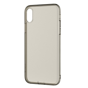 DEVIA Anti-shock Soft Case for iPhone XS / X 5.8 inch Anti-yellowing Bayer TPU Cover Shell - Grey