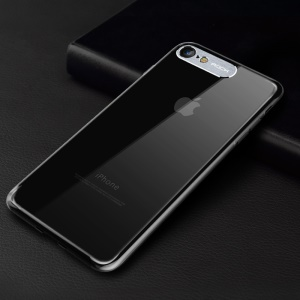 ROCK Classy Series Aluminum Alloy Patch PC Phone Case for iPhone 8/7 4.7 inch - Transparent
