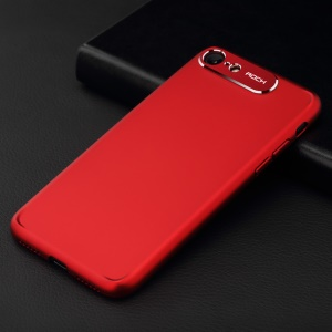 ROCK Classy Series Aluminum Alloy Patch PC Mobile Cover for iPhone 8/7 4.7 inch - Red