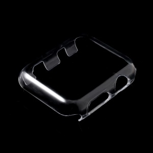 For Apple Watch Series 3 2 1 42mm Transparent Hard PC Protective Shell Case with Non-slip Inner