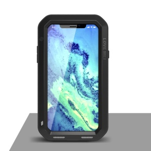 LOVE MEI for iPhone XS/X 5.8-inch Shockproof Dust-proof Defender Mobile Shell - Black