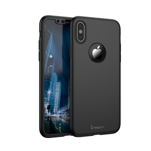 IPAKY Full Protection Hard Plastic Case for iPhone X/10 - Black