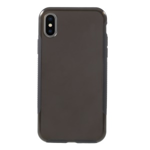 Transparent PC + TPU Hybrid Back Phone Casing for iPhone X - Grey