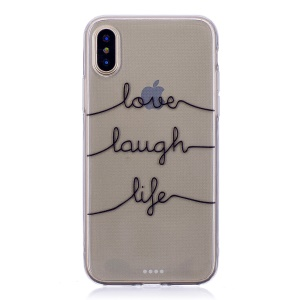 Pattern Printing TPU Back Case for iPhone X - English Characters