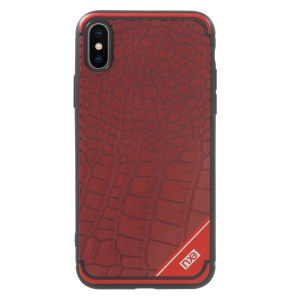 NXE Crocodile Texture TPU Phone Cover Case for iPhone X/10 - Red
