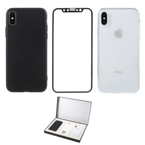 NEX Perfect Suit Series for iPhone X/10 5.8 inch Two TPU Cases + One Tempered Glass Screen Film