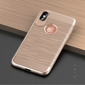 USAMS Lavan Series for iPhone XS / X / 10 5.8 inch Soft Thin TPU Cover Case - Gold