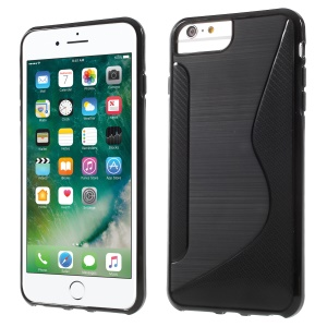 S-line Carbon Frosted TPU Case for iPhone 8/7/6s/6 - Black