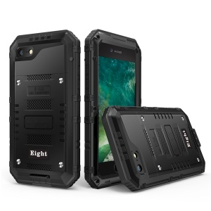 Powerful Phone Cover for iPhone 8 / 7 4.7 inch dual Shockproof Drop-proof Dust-proof - Black