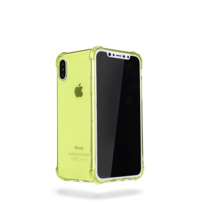 X-LEVEL Anti-bump Wrapped Edges Soft TPU Casing for iPhone XS / X 5.8 inch - Green