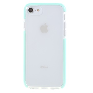 Bi-color Drop-proof TPU Phone Mobile Phone Shell for iPhone 8 / 7 / 6s / 6 4.7 inch - Cyan