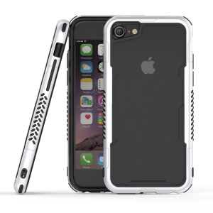 Card Holder PC + TPU Hybrid Bumper Cover for iPhone 8/7/6s/6 - Silver