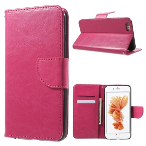 Wallet Leather Cover Case for iPhone 6s Plus/6 Plus - Rose