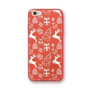 Christmas Series Embossed TPU Case for iPhone 6s 6 - Reindeer and Gift