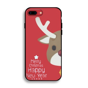 Christmas Series Soft IMD TPU Phone Case for iPhone 8 Plus/7 Plus - Adorable Reindeer