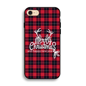 Christmas Series IMD Patterned Soft TPU Cover for iPhone 8/7 4.7 inch - Antlers and Merry Christmas