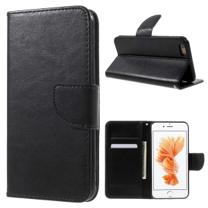 Leather Wallet Stand Case for iPhone 6s 6 4.7 inch - Black