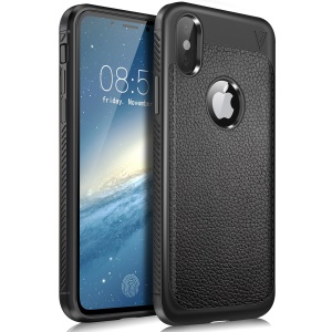 LENUO Gentlemen Series Soft TPU Case for iPhone X - Black