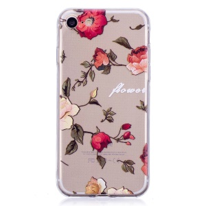 For iPhone 8/7 4.7 inch Pattern Printing TPU Mobile Case - Blooming Flowers