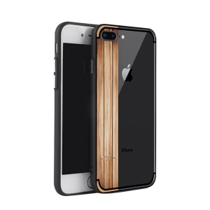 NXE Yaqing Series Pattern Painting Wood Texture PC + TPU Combo Back Casing for iPhone 8 Plus / 7 Plus 5.5 inch - Peach Wood Pattern