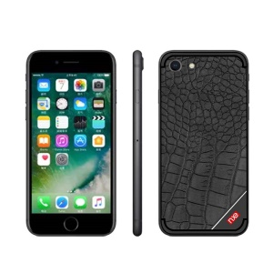 NXE Crocodile Texture TPU Mobile Phone Casing for iPhone 8 / 7 4.7 inch - Black