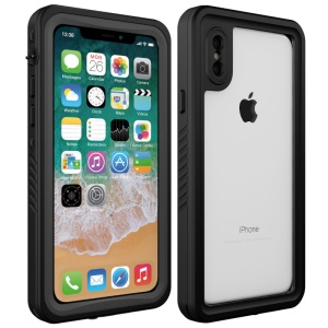 Underwater Waterproof PC+TPU Shell for iPhone X - Red