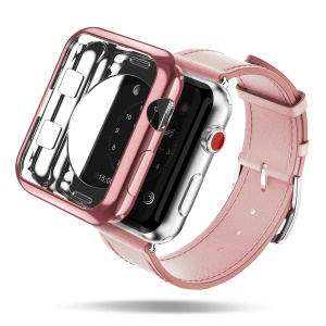 Dux Ducis Soft TPU Electroplating Cover Shell for Apple Watch Series 3 Series 2 Series 1 38mm - Rose Gold