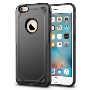 Plastic + TPU Hybrid Rugged Armor Protective Cover for iPhone 6s / 6 4.7-inch - Black