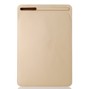 Delicate Pen Slot Nano Leather Pouch Case Sleeve for iPad 9.7 (2018)/9.7-inch (2017) / iPad Pro 10.5-inch (2017) - Gold