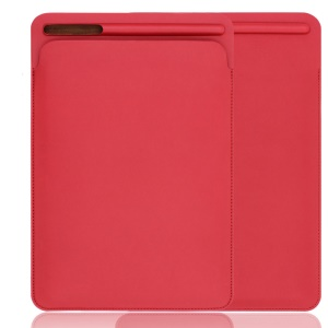 Delicate Nano Leather Pouch Sleeve Case with Pen Slot for iPad Pro 12.9 (2017) - Red