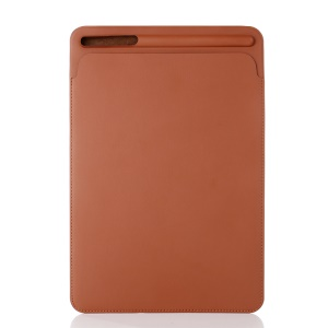 For iPad Pro 12.9 (2017) Delicate Pen Slot Nano Leather Pouch Sleeve Case - Brown