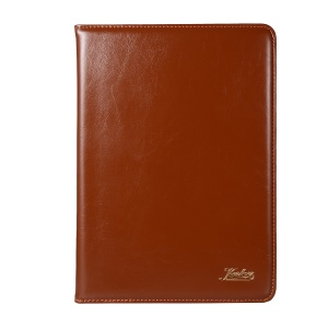 KAKUSIGA Split Leather Stand Tablet Cover Case for iPad 9.7 (2018)/9.7 (2017)/iPad Pro 9.7/iPad Air 2/iPad Air - Brown