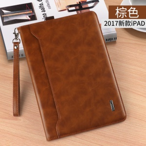 KAKUSIGA Estee Series Multi-functional Leather Wallet Case with Elastic Band for iPad 9.7 (2018)/9.7 (2017)/Pro 9.7/Air 2/1 - Brown