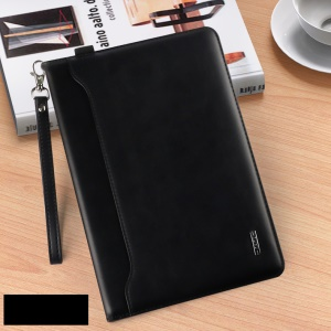 KAKUSIGA Estee Series Multi-functional Leather Wallet Stand Case for iPad 9.7 (2017)/Pro 9.7/Air 2/1 - Black