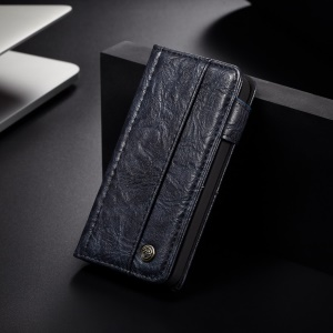 CASEME Vintage Style Wallet PU Leather Phone Shell for iPhone 5 / 5s / SE - Dark Blue