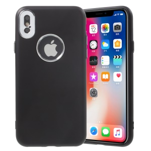 G-CASE Elegant Series Rubberized TPU Back Case for iPhone XS / X 5.8 inch - Black