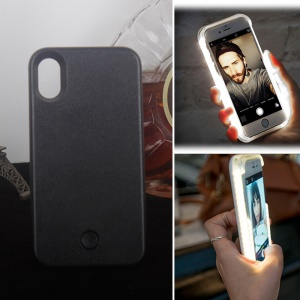 new product a5bef 2a7e7 Purchased LED Illuminated Selfie Plastic Phone Case for iPhone X - Black