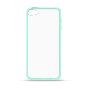 Drop-proof Clear PC Back TPU Frame Hybrid Casing Cover for iPod Touch 6 - Green