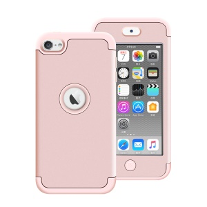 Detachable PC + TPU Hybrid Case Shell for iPod Touch 5 / Touch 6 - Pink