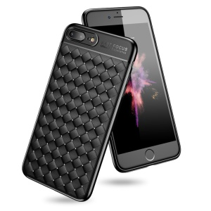 USAMS Woven Texture Heat Dissipation TPU Phone Case for iPhone 8 Plus/7 Plus - Black