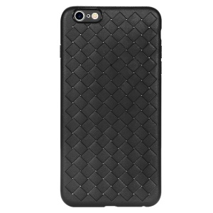 BENKS Woven Grid Pattern Flexible TPU Shell for iPhone 6s Plus / 6 Plus 5.5 inch - Black